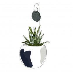 etiquette ardoise de jardin ronde gustav le jardin de l on. Black Bedroom Furniture Sets. Home Design Ideas