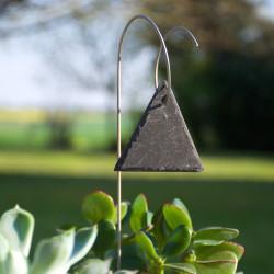 Porte-étiquette Juan avec étiquette ardoise triangle
