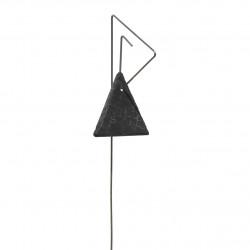 Porte-étiquette Pablo avec étiquette ardoise triangle