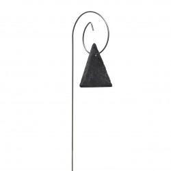 Porte-étiquette Gustav avec étiquette ardoise triangle