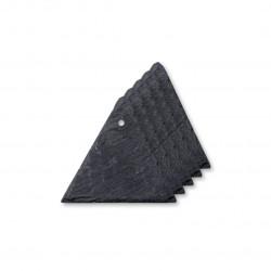 Étiquette ardoise triangle pour porte-étiquette, lot de 5