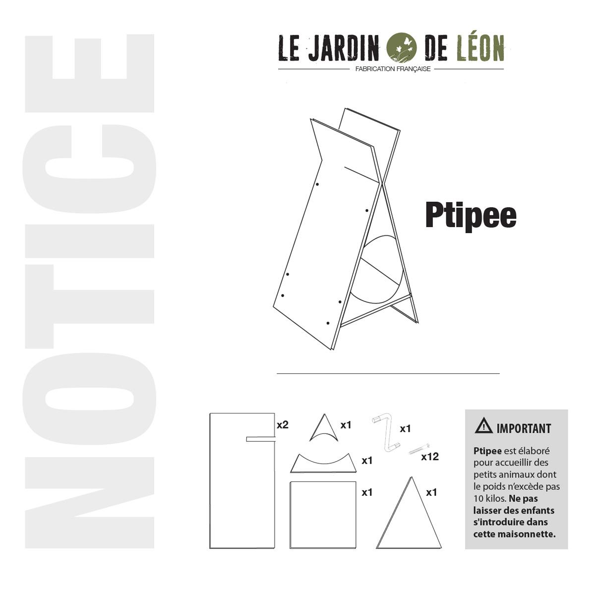 Notice Montage - Ptipee - Page 1 - Le Jardin de Leon